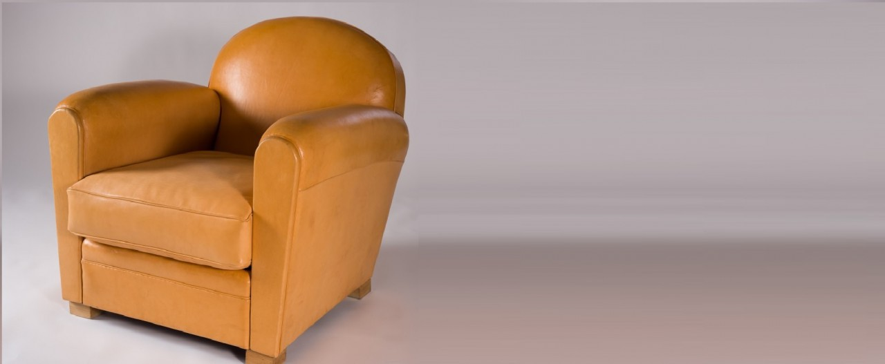 Fauteuil club cuir forest
